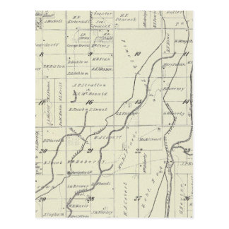 T19S R22E Tulare County Section Map Postcards