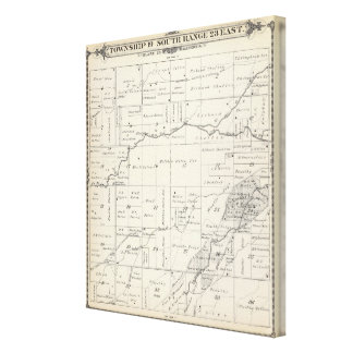 T19S R23E Tulare County Section Map Gallery Wrapped Canvas