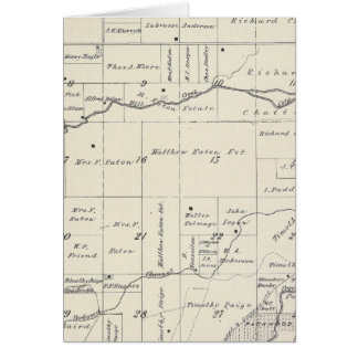 T19S R23E Tulare County Section Map Card