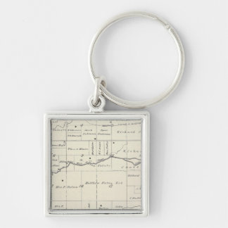 T19S R23E Tulare County Section Map Key Chain