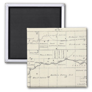 T19S R23E Tulare County Section Map Magnets