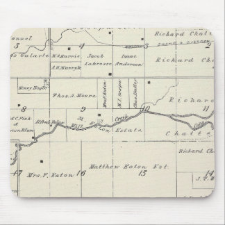 T19S R23E Tulare County Section Map Mouse Pad