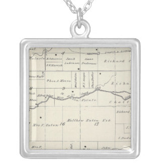 T19S R23E Tulare County Section Map Custom Necklace