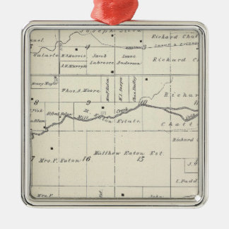 T19S R23E Tulare County Section Map Ornament