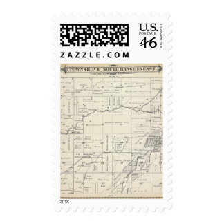 T19S R23E Tulare County Section Map Postage