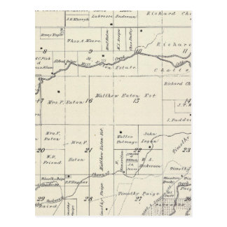 T19S R23E Tulare County Section Map Postcard