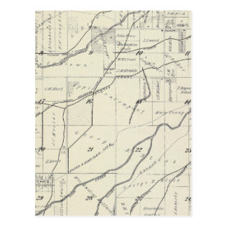 T19S R25E Tulare County Section Map Postcards