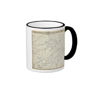 T19S R25E Tulare County Section Map Ringer Coffee Mug