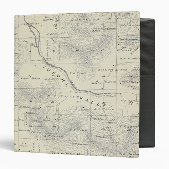 T19S R27E Tulare County Section Map Binder