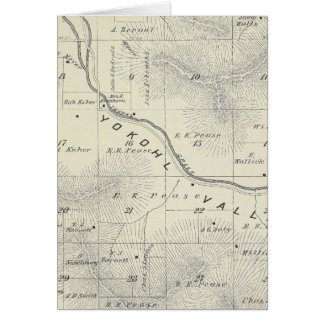 T19S R27E Tulare County Section Map Greeting Card