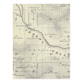 T19S R27E Tulare County Section Map Postcards