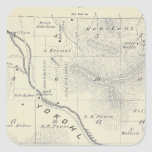T19S R27E Tulare County Section Map Square Sticker