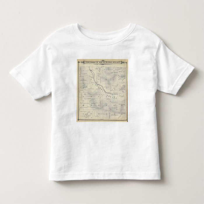 T19S R27E Tulare County Section Map Toddler T-shirt
