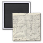 T19S R28E Tulare County Section Map 2 Inch Square Magnet