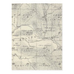 T19S R28E Tulare County Section Map Postcard