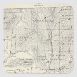 T19S R28E Tulare County Section Map Square Sticker