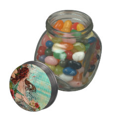 T1 Candy Tin / Jar Seashore Mermaid at Zazzle