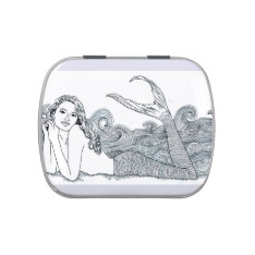T1 Candy Tin / Pill Box Curly Wave Mermaid at Zazzle
