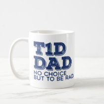 T1d Dad Rad (Navy) Coffee Mug