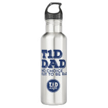 T1d Dad Rad (Navy) Stainless Steel Water Bottle