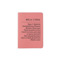 T1dTruth (Coral) Passport Holder