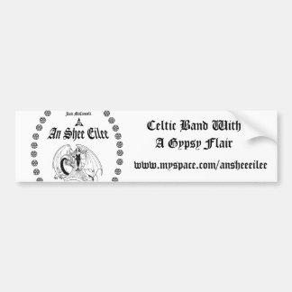 T1WB, Celtic Band With  A Gypsy Flair, www.mysp... Bumper Sticker