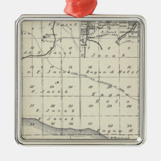 T2021S R2021E Tulare County Section Map Christmas Tree Ornament