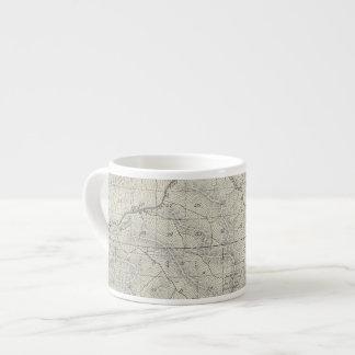 T2021S R3031E Tulare County Section Map 6 Oz Ceramic Espresso Cup
