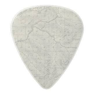 T2021S R3031E Tulare County Section Map Acetal Guitar Pick