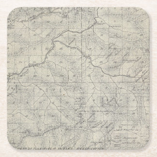 T2021S R3031E Tulare County Section Map Square Paper Coaster