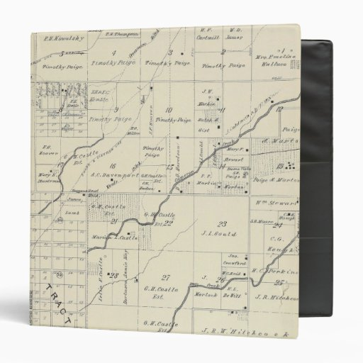 T20S R23E Tulare County Section Map Vinyl Binder