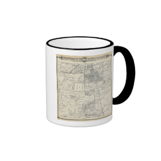 T20S R24E Tulare County Section Map Ringer Coffee Mug
