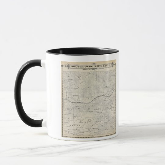 T20S R28E Tulare County Section Map Mug
