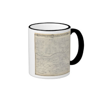 T20S R28E Tulare County Section Map Ringer Coffee Mug