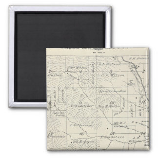 T20S R29E Tulare County Section Map 2 Inch Square Magnet