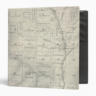 T20S R29E Tulare County Section Map 3 Ring Binders