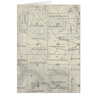 T20S R29E Tulare County Section Map Greeting Card