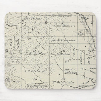 T20S R29E Tulare County Section Map Mouse Pad