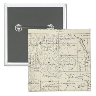 T20S R29E Tulare County Section Map Pinback Button