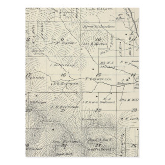 T20S R29E Tulare County Section Map Postcard