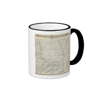 T20S R29E Tulare County Section Map Ringer Coffee Mug
