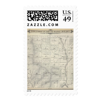 T20S R29E Tulare County Section Map Stamp