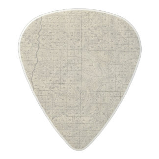 T2124S R3235E Tulare County Section Map Acetal Guitar Pick