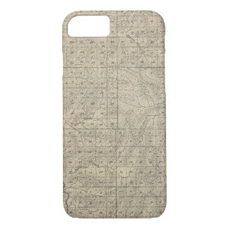 T2124S R3235E Tulare County Section Map iPhone 7 Case