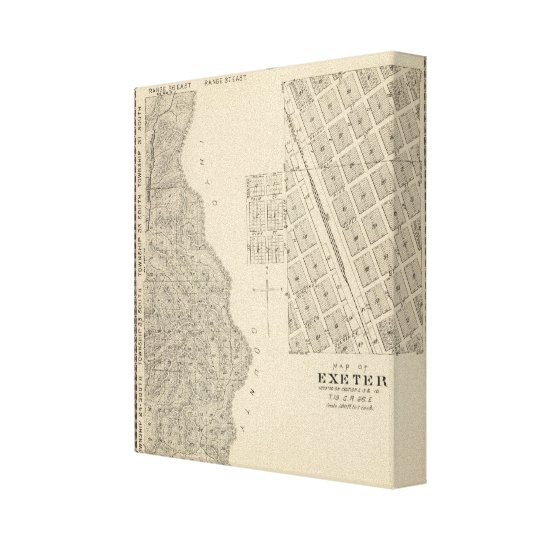 T2124S R3637E Tulare County Section Map Canvas Print