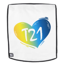 T21 Down Syndrome Awareness Backpack