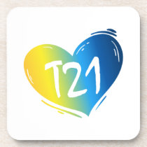 T21 Down Syndrome Awareness Beverage Coaster