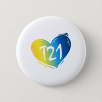 T21 Down Syndrome Awareness Button
