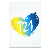 T21 Down Syndrome Awareness Card