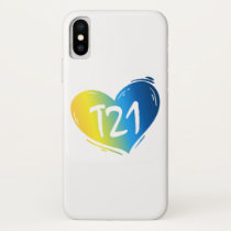 T21 Down Syndrome Awareness iPhone X Case